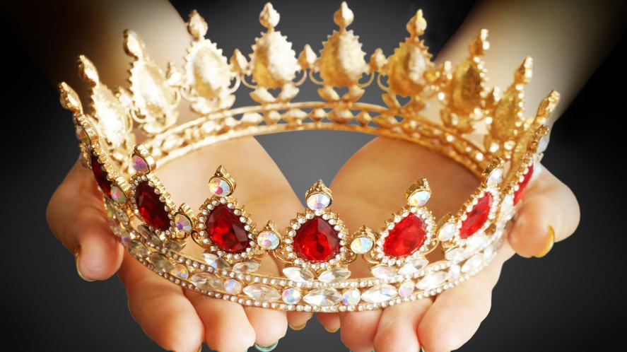 A sparkling crown covered in jewels