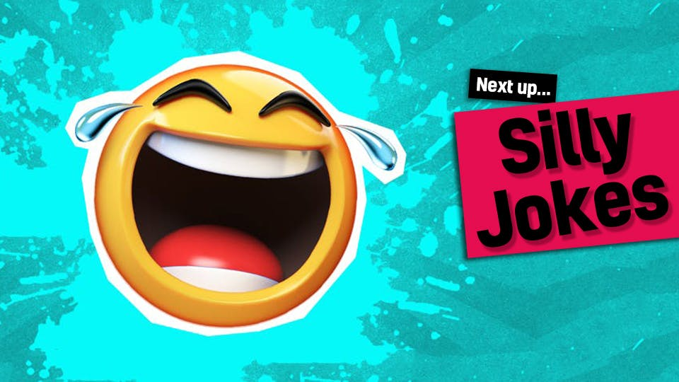 A laughing emoji - next up, silly jokes