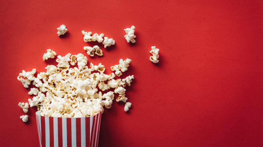 A cinema tub of popcorn