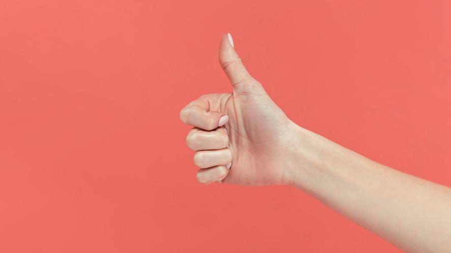 A big thumbs up