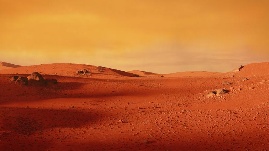 A Mars landscape