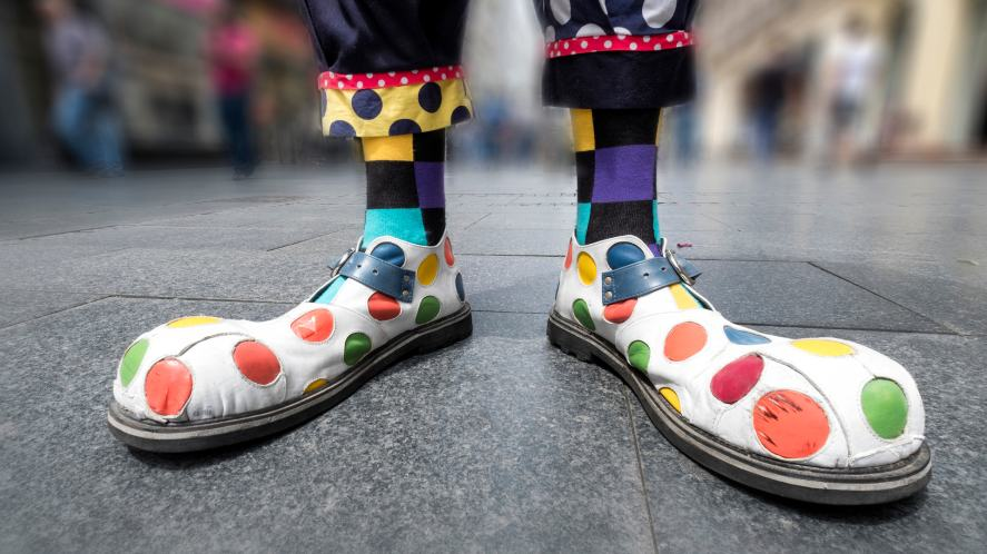 A pair of clown shoes