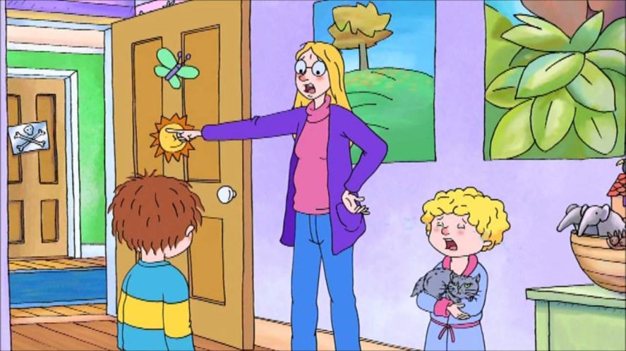 Horrid Henry, his mum and his brother