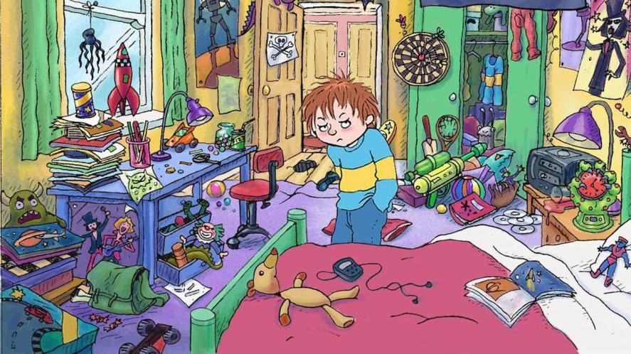 Horrid Henry's messy bedroom