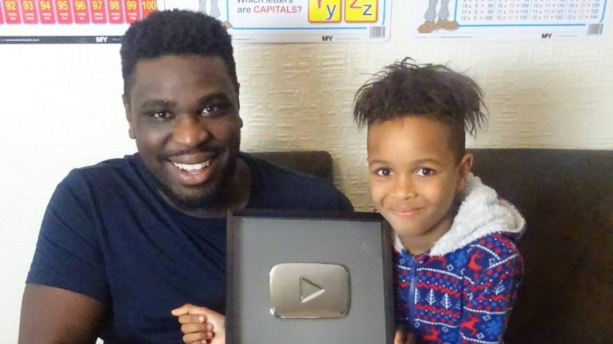 Tekkerz Kid and his dad Nathan