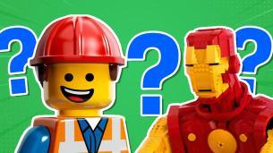 Emmet Brickowski and Iron Man