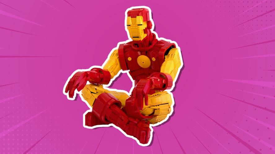 A massive LEGO Iron Man