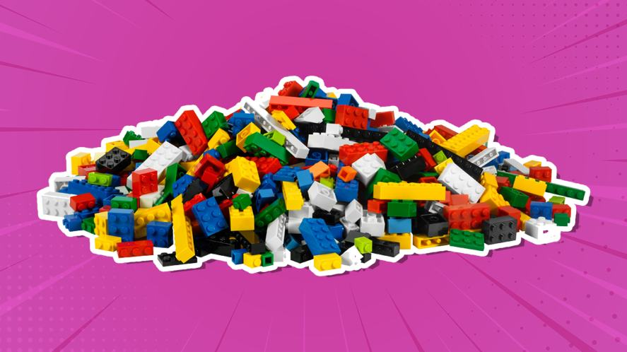 A big pile of LEGO