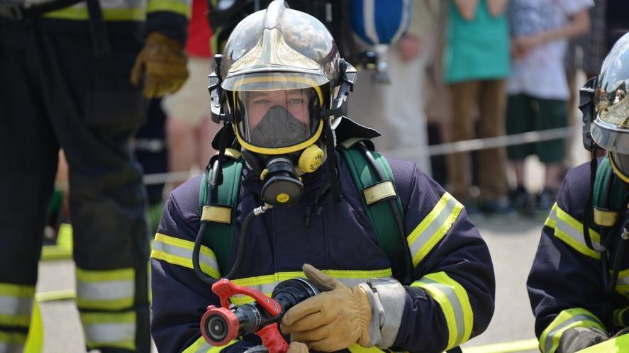A fire fighter