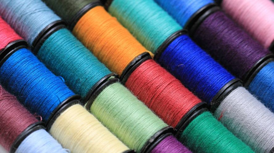 A selection of coloured threads