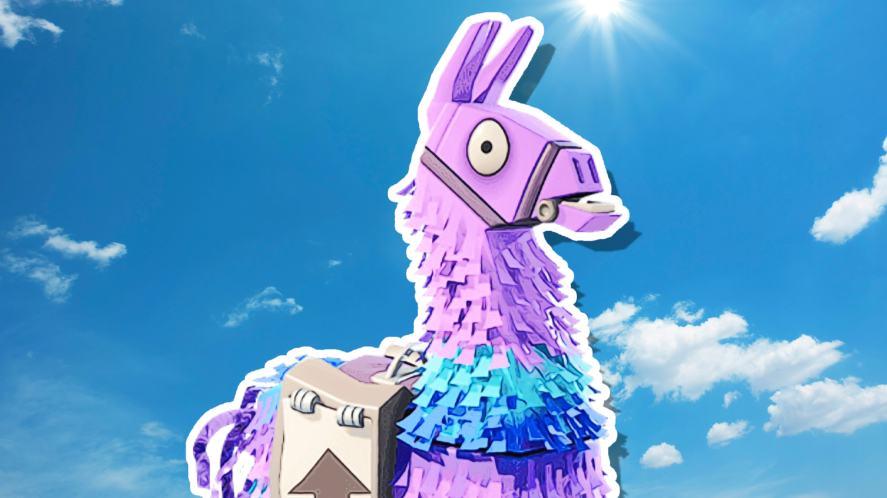 A Fortnite llama