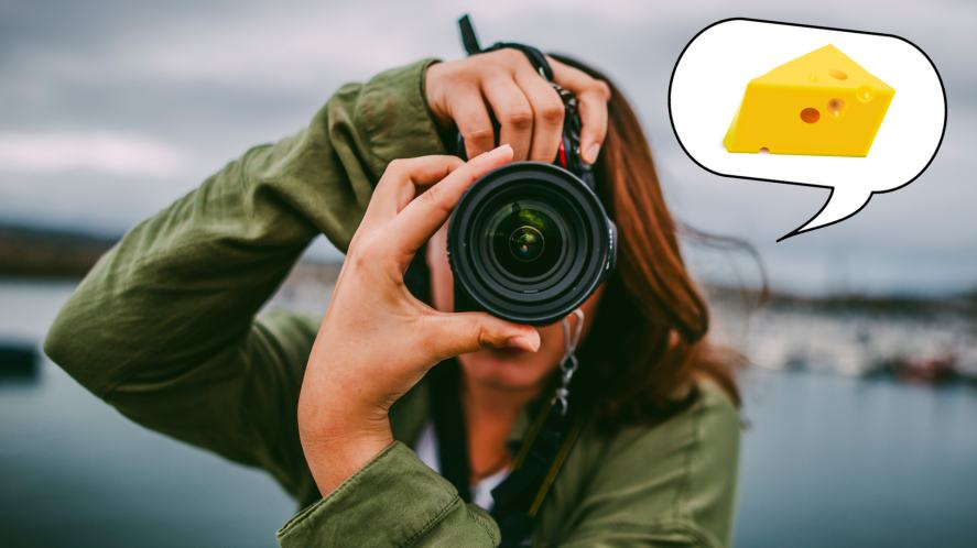A woman taking a photograph