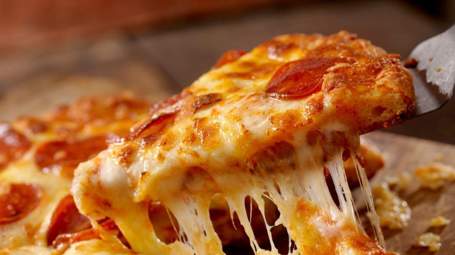 A slice of delicious pizza