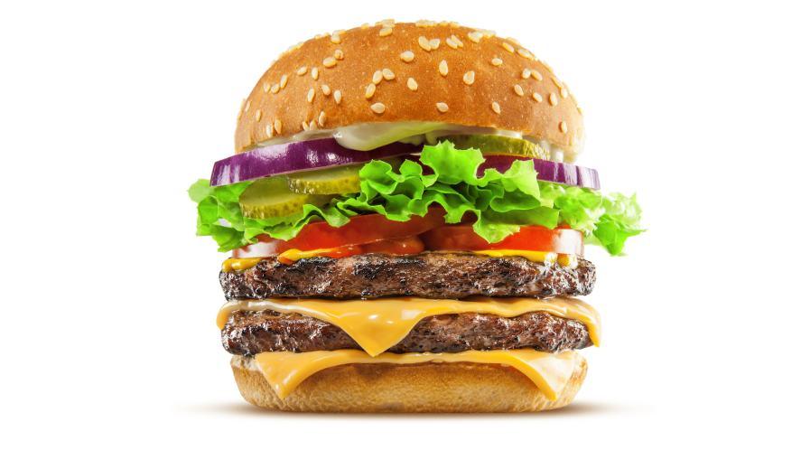A massive burger