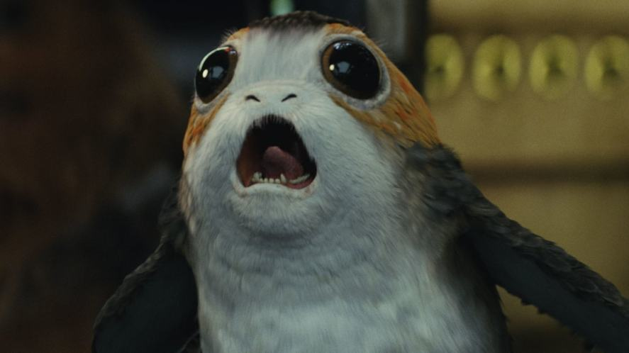 A creature from The Last Jedi