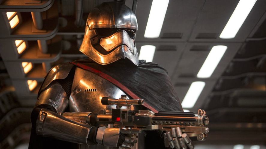 A Stars Wars character in silver armour