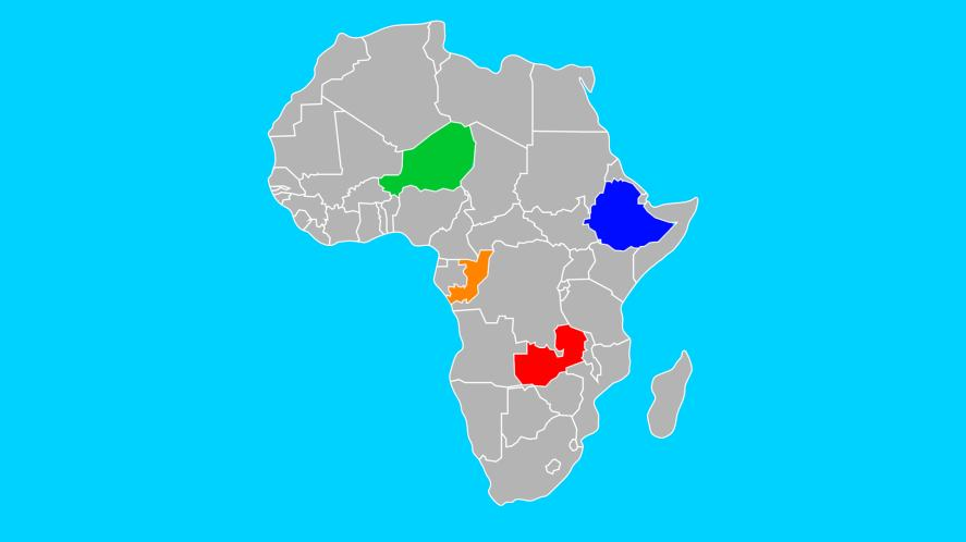 A map of Africa, but where is the Republic of Congo?