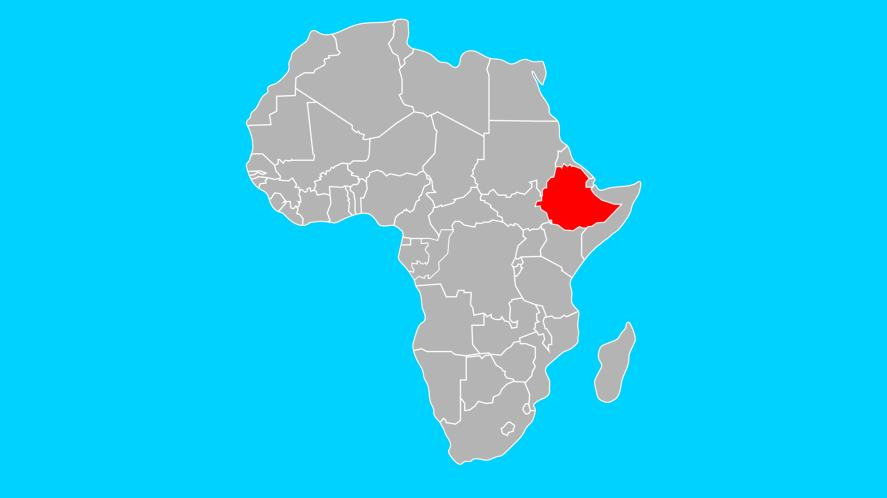 Is this Ethiopia highlighted on the map?