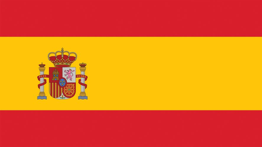 A red and yellow flag