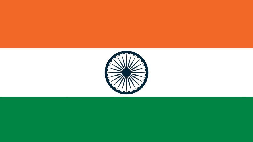 An orange white and green flag