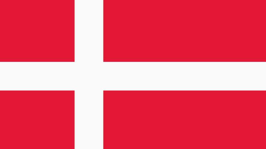 A red and white flag