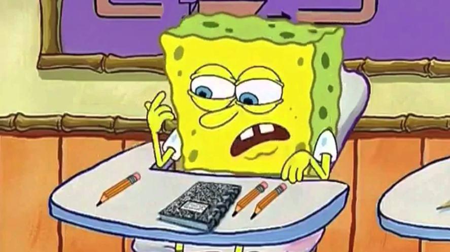 SpongeBob SquarePants takes an exam