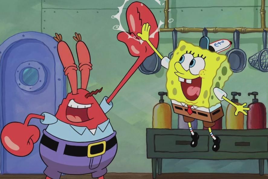 SpongeBob wears a Krusty Krab hat