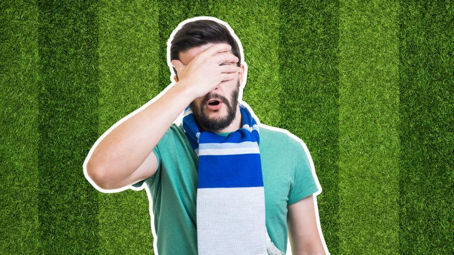 A sad football fan