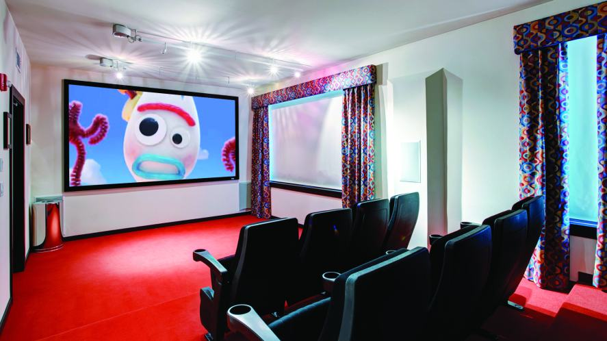 A home cinema screening of Toy Story 4