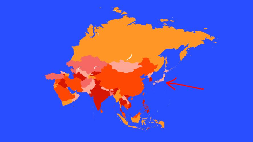A map of Asia
