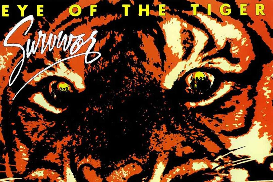 The cover of Eye of the Tiger by Survivor