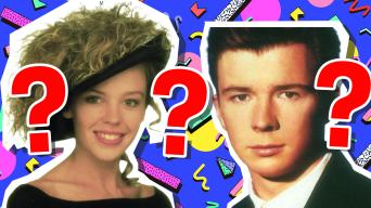 Kylie Minogue and Rick Astley