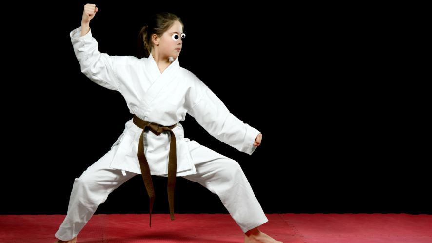A karate enthusiast