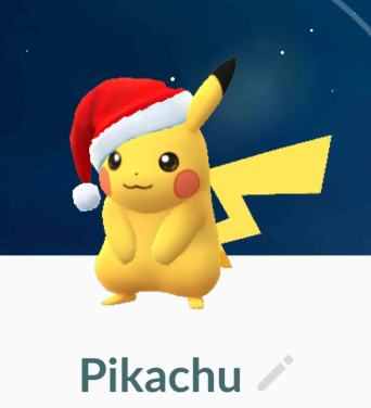 Pikachu Pokémon santa hat