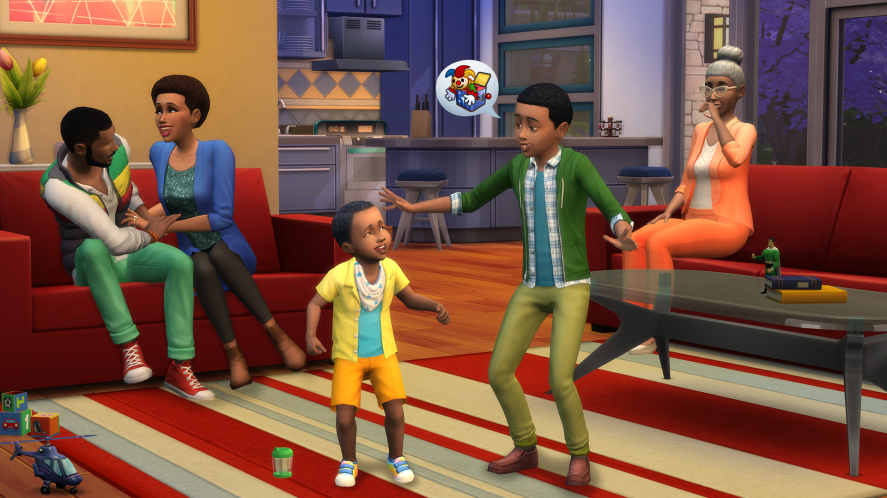 A scene from The Sims 4