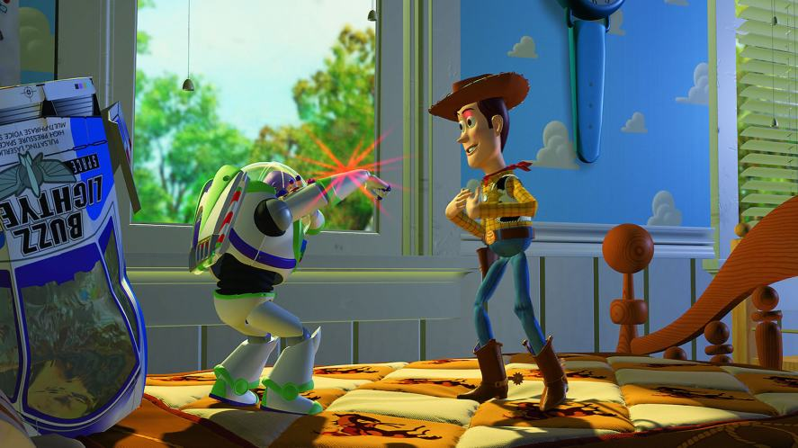 Buzz and Woody in Toy Story