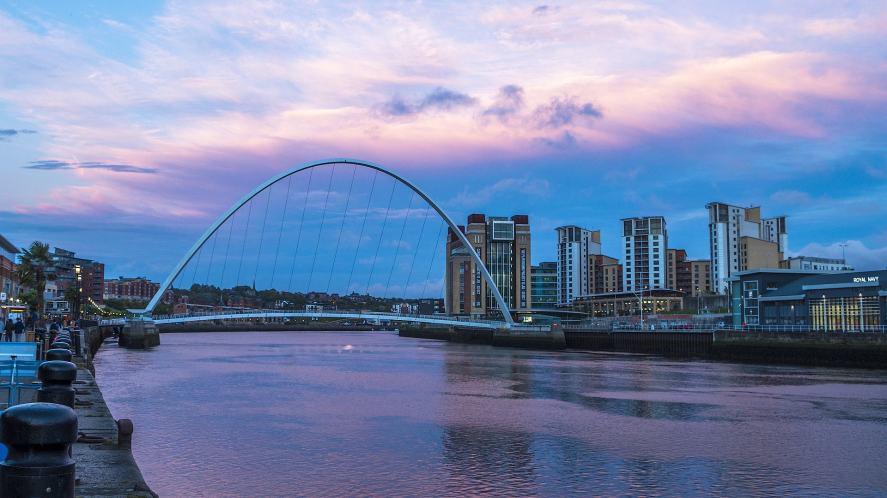 Newcastle and Gateshead quays