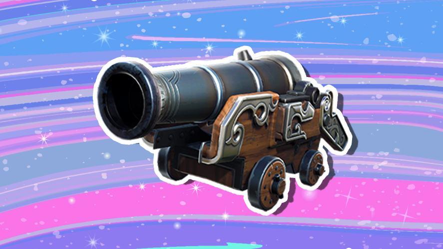A Fortnite cannon