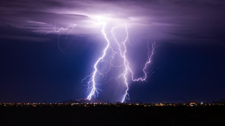 A lightning storm