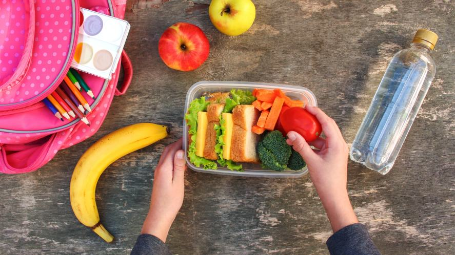 A healthy packed lunch