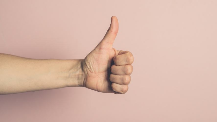 A thumbs up