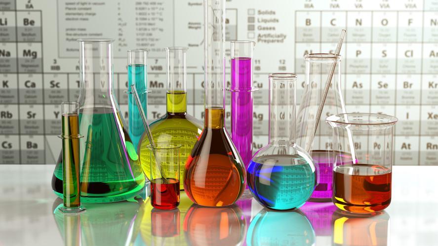 A selection of chemistry flasks