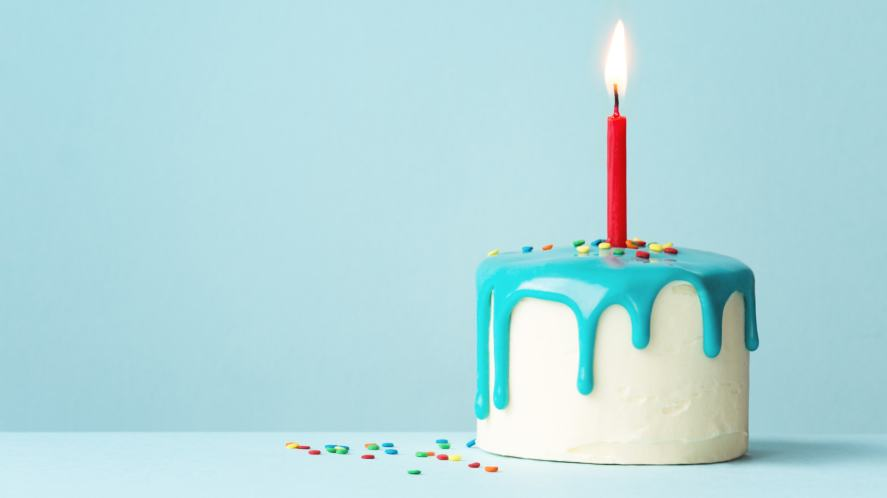 A delicious birthday cake