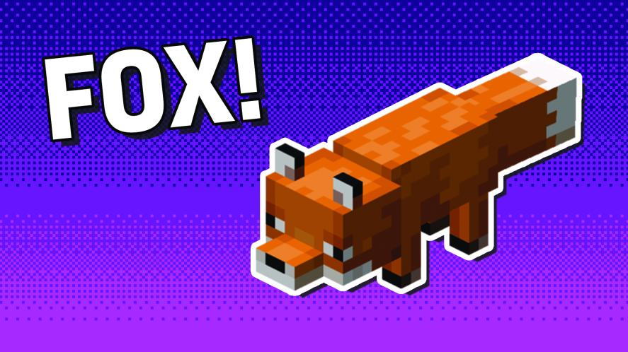 A Minecraft fox
