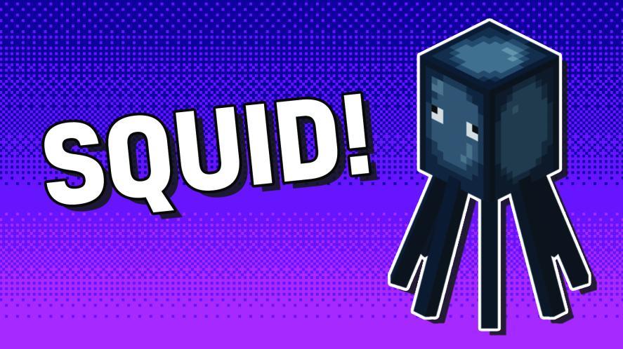 A Minecraft squid