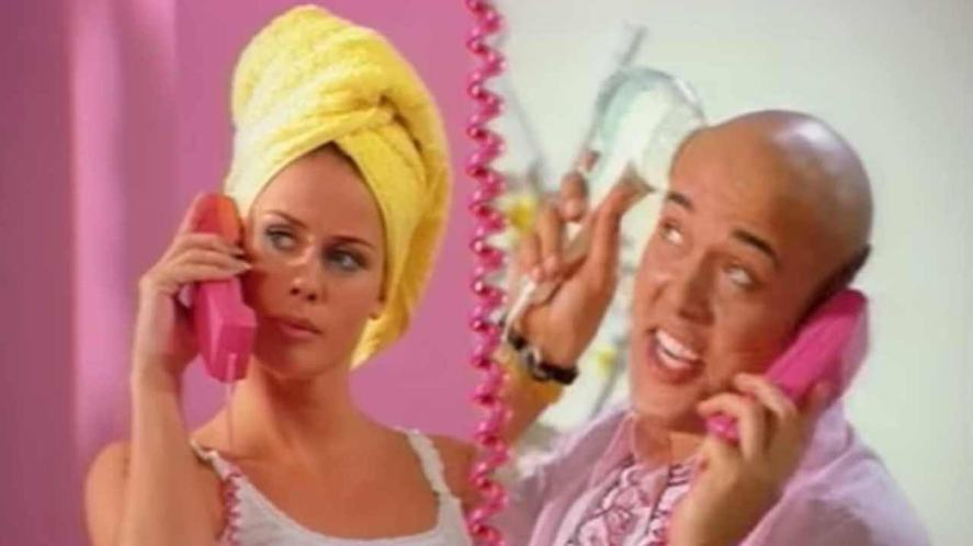 A scene from the Barbie Girl video