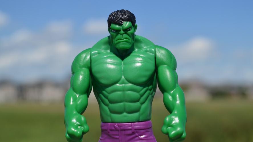 An Incredible Hulk toy