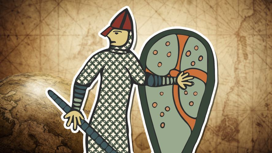 An illustration of a soldier during the Battle of Hastings