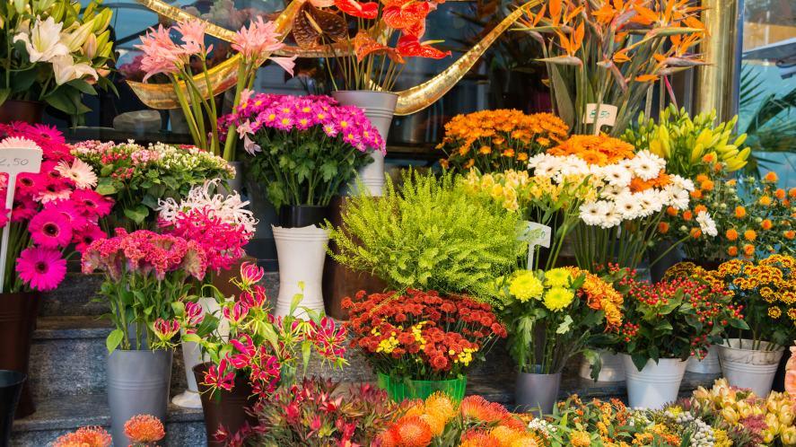 A flower stall