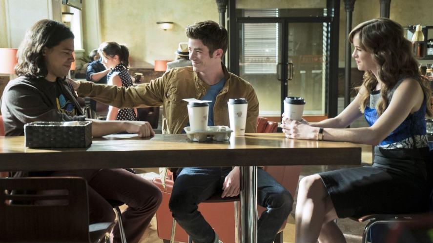 The Flash scene in Jitters coffee shop